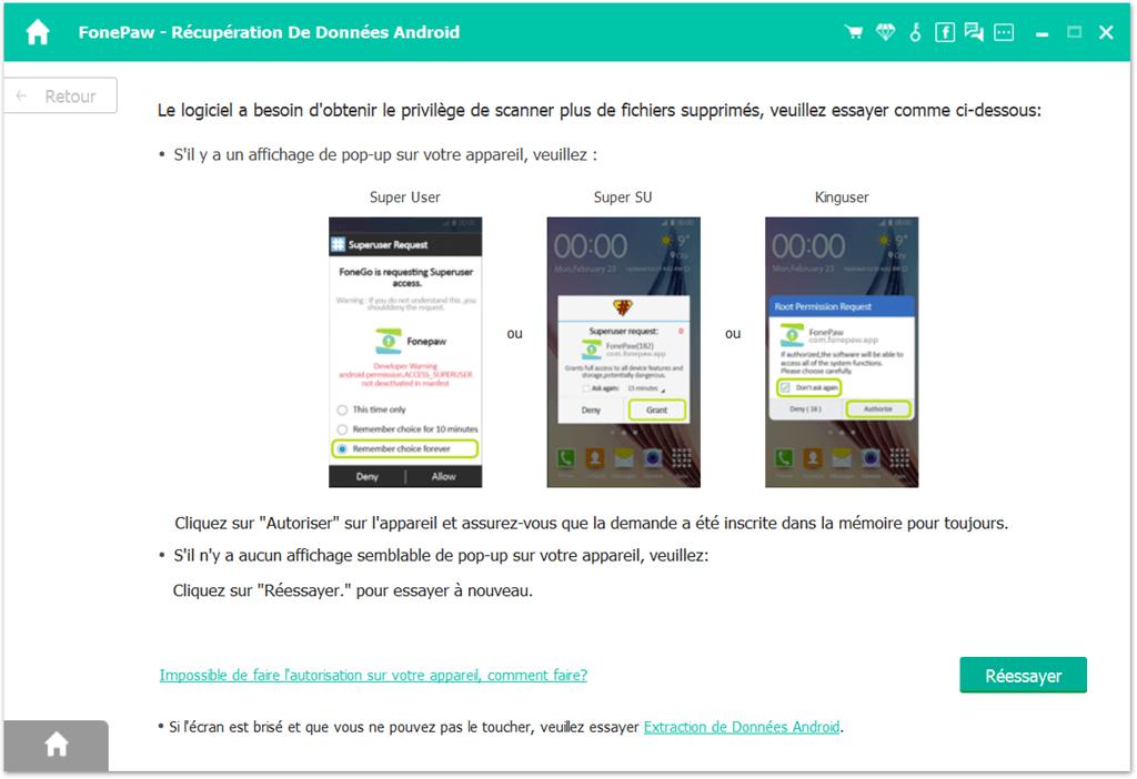 fonepaw récupération de données android