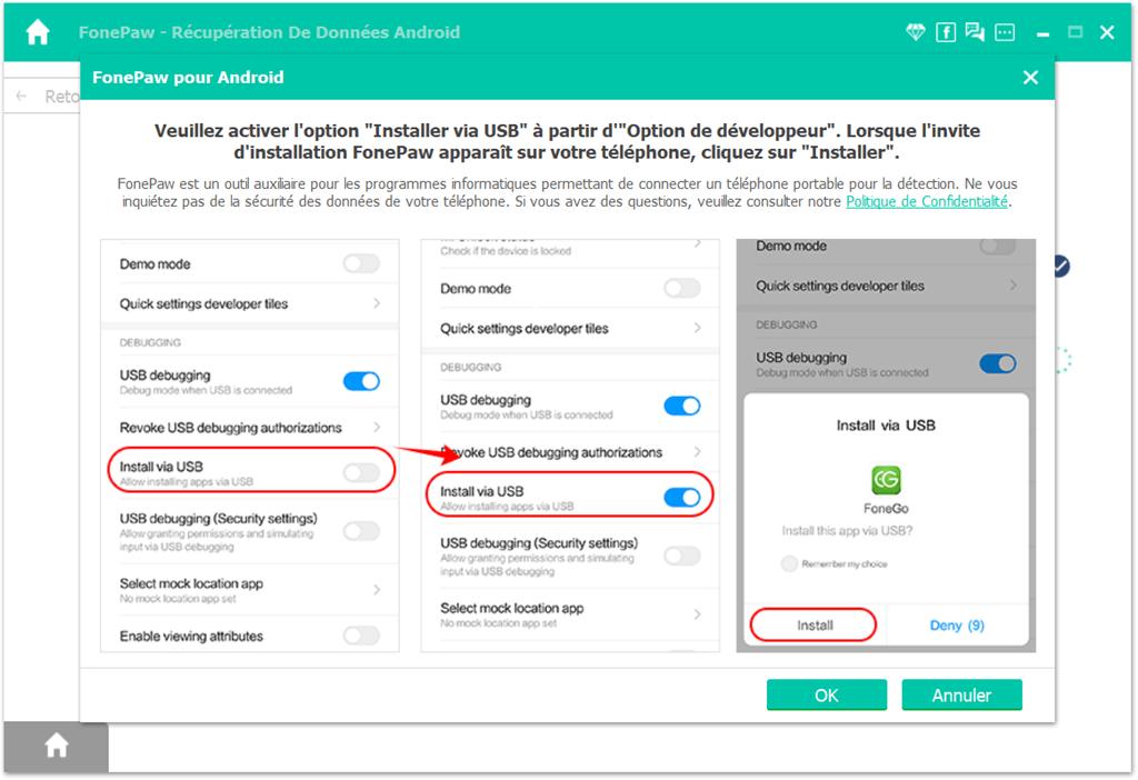 installer une application appelée « FonePaw » sur votre Android