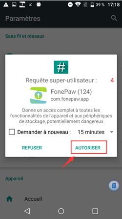 installer l'application « FonePaw » sur mon Android