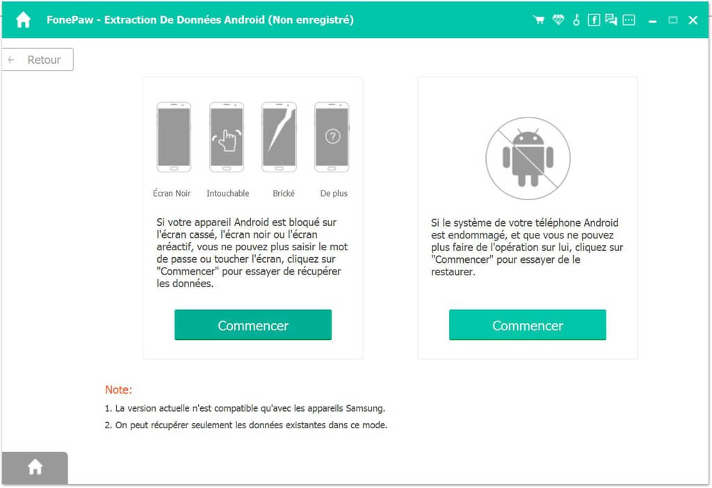 telecharger logiciel extraction de donnees android