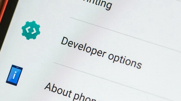 options developpeur android