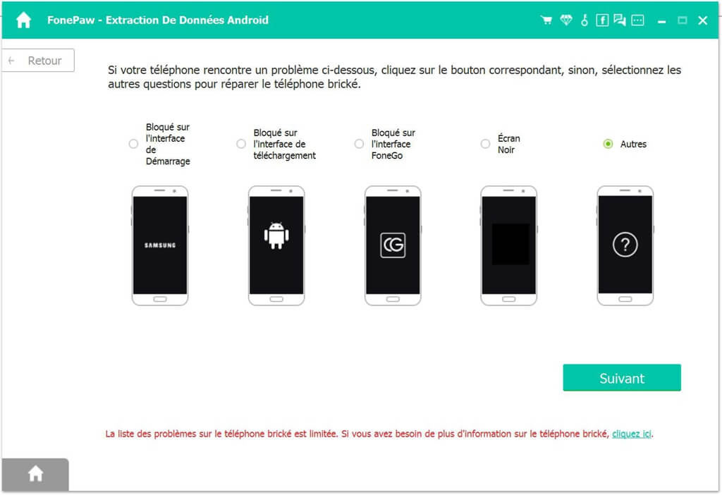 fixer smartphone android brique