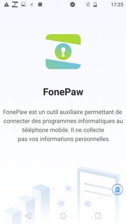 installer l'application FonePaw sur votre appareil