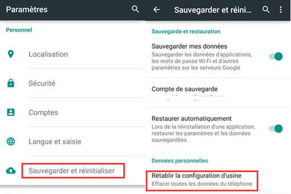 Sauvegarder les messages Android