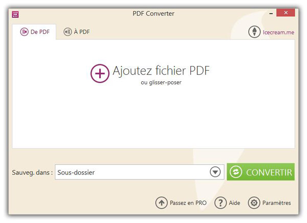 Ajoutez un fichier PDF
