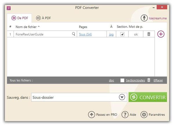 Convertir PDF en JPG