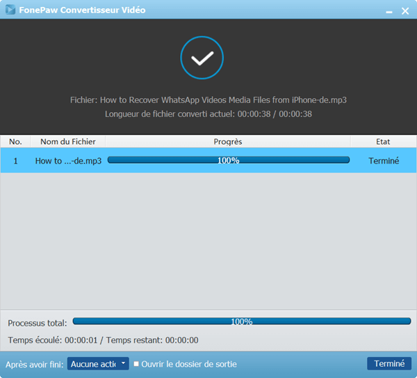 FonePaw Convertisseur Vidéo - convertir vidéo mp4 en mp3