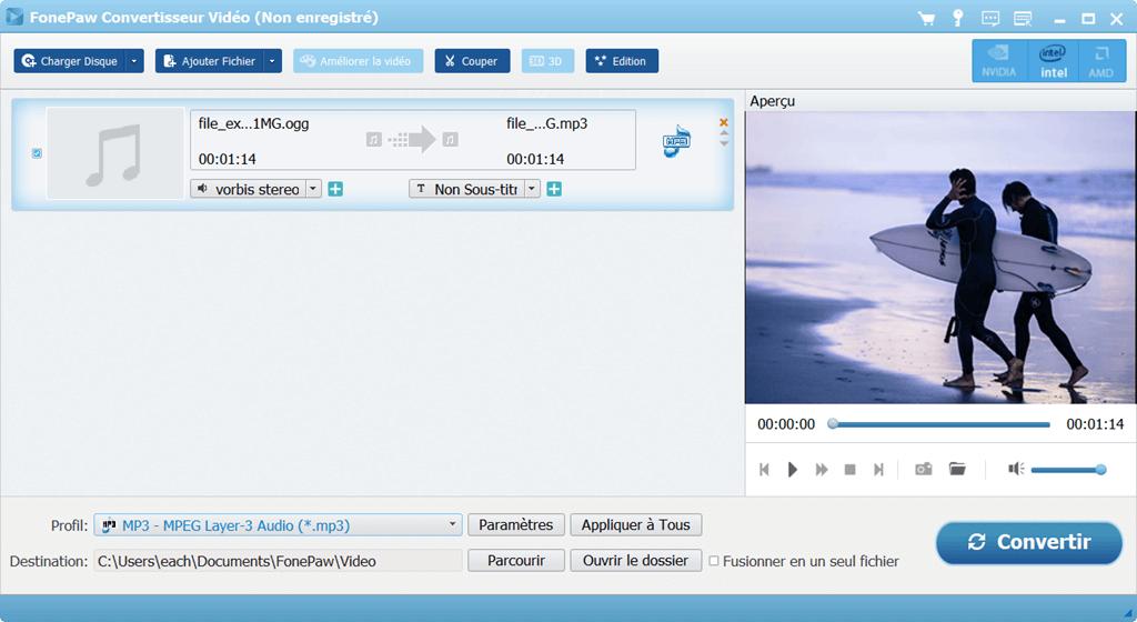 convertir un OGG en MP3