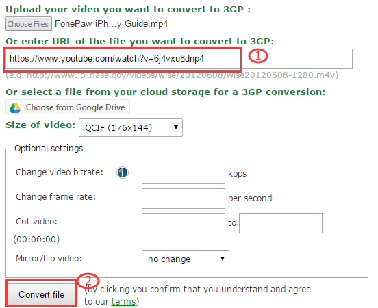 video online convert 3gp
