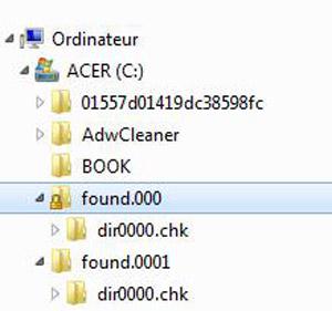 Récupérer les fichiers CHK