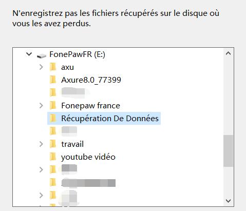 restaurer des données perdues sur carte SD