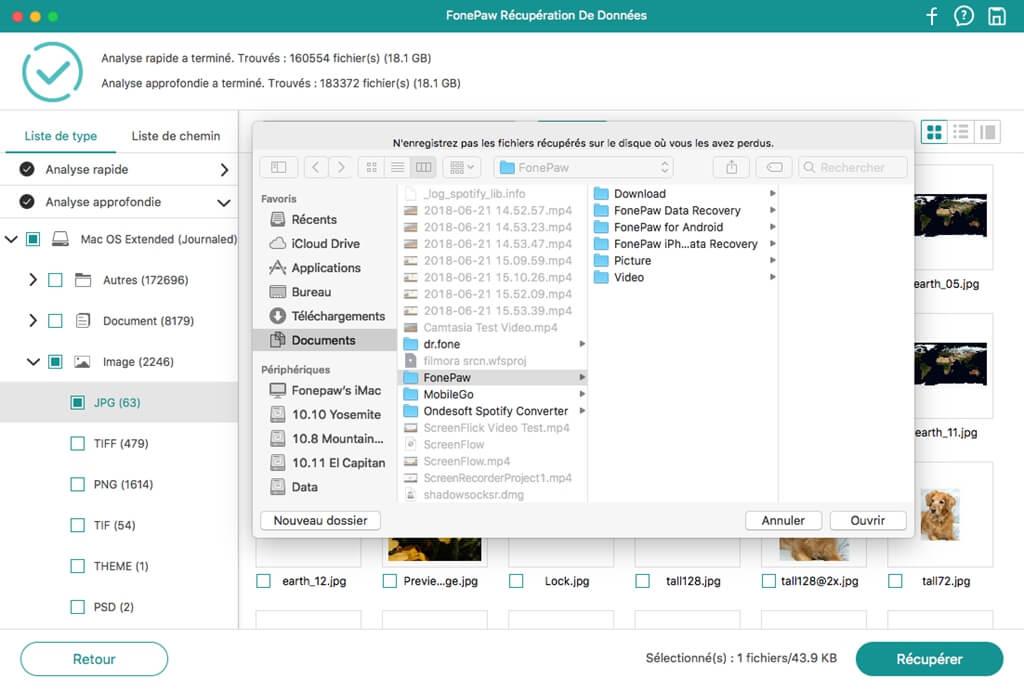 Récupération De Données - restaurer des fichiers Mac