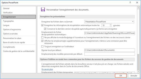 Récupérer des fichiers PowerPoint supprimés