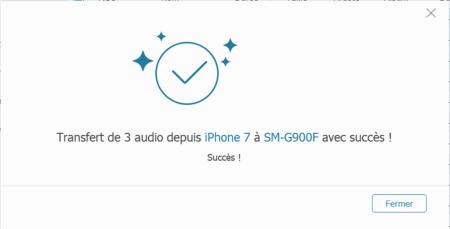 copier audio iphone sur samsung