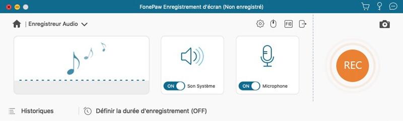 Enregistreur d'écran-configurer format audio