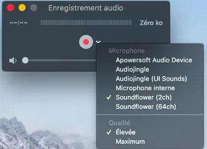 Enregistrer l'audio sur votre Mac