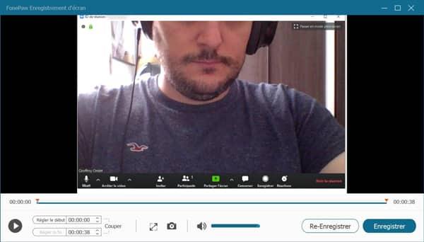 terminer l'enregistrement de la vidéo sur ZOOM