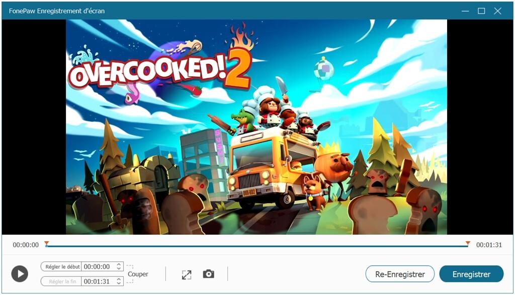 Terminer l'enregistrement de la partie de jeu vidéo en streaming