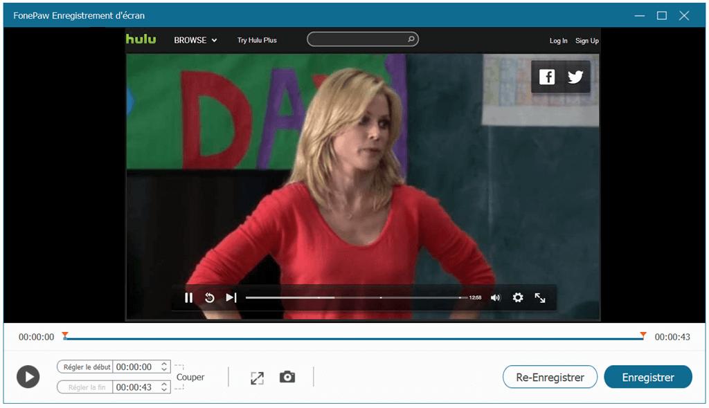 Enregistrer la vidéo Hulu sur un ordinateur