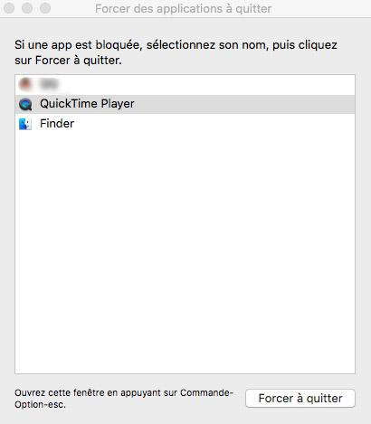L'interface de l'Enregistreur d'écran