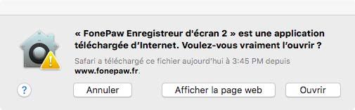 Installer FonePaw Enregistreur d'écran sur Mac