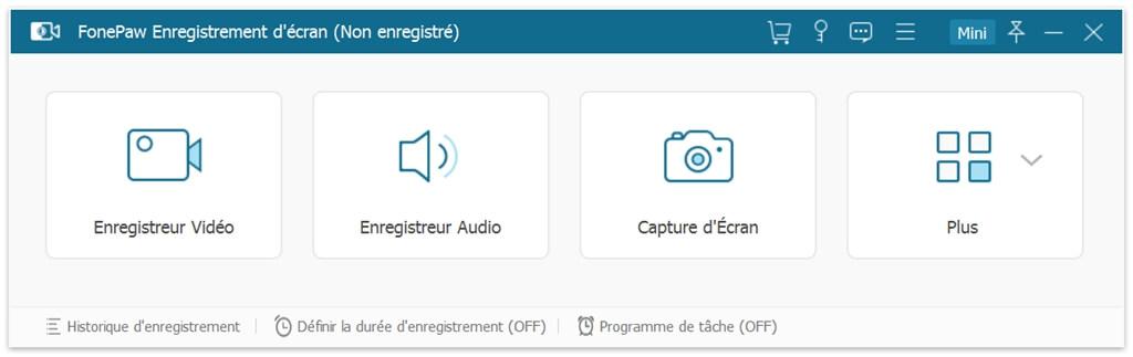 Interface de FonePaw Enregistreur d'écran