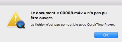 L'ouverture de fichiers sur QuickTime