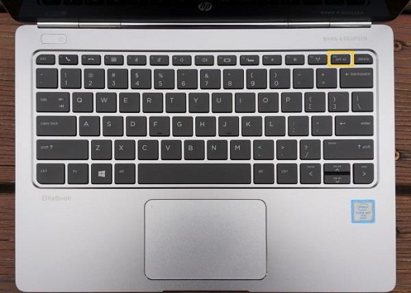 Captures d'écran du clavier sur HP