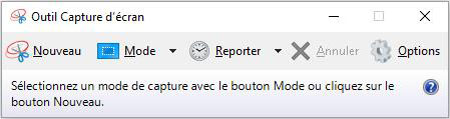 L'outil de capture Windows