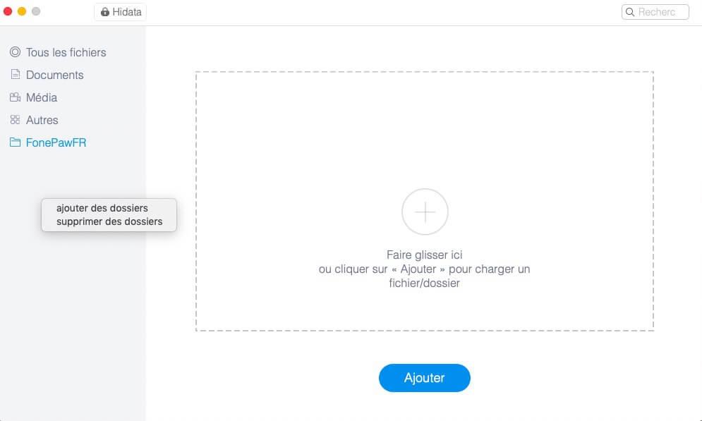 créer un nouveau dossier protégé par votre mot de passe sur mac