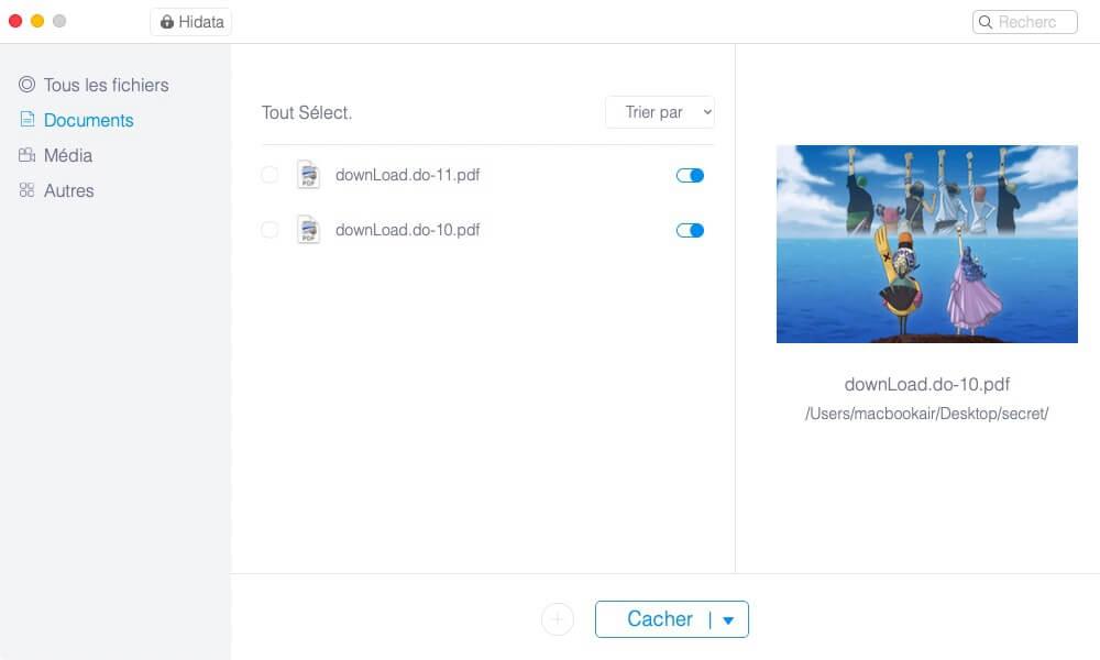 cacher tous vos fichiers et dossiers privés sur macOS