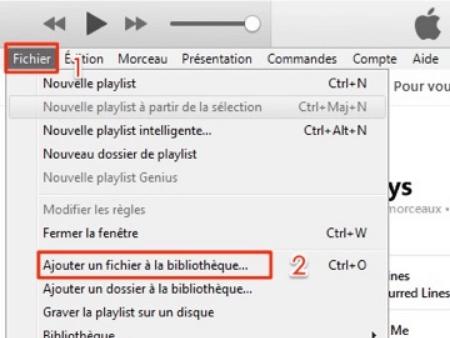 importer la musique téléchargée vers iTunes
