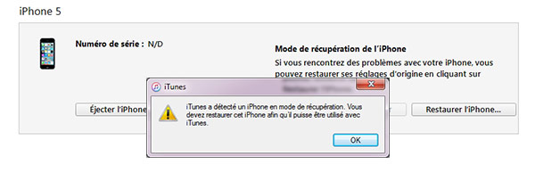 Réinitialiser un iPhone
