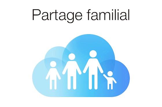 activer partage familial iphone ipad mac