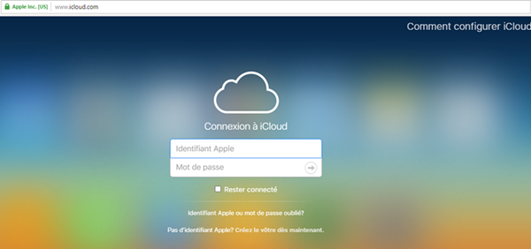 gerer contacts icloud web