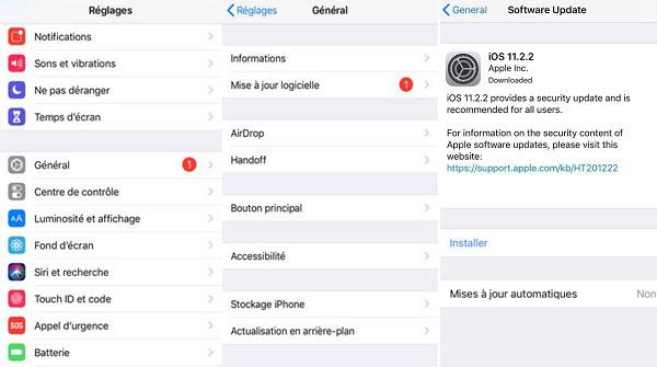 Mettre à jour le système de iPhone