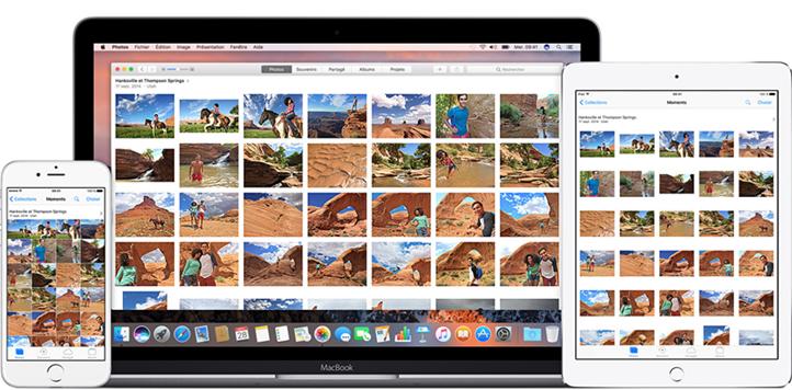 synchroniser photos phototheque icloud