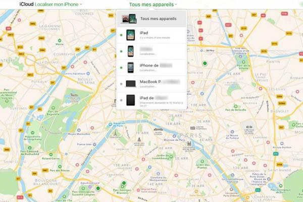 Trouver mon iPhone dans l'iCloud
