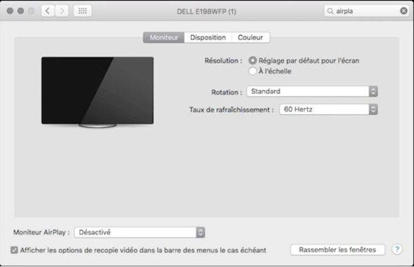 Activez AirPlay / Recopie de l'écran sur votre Mac