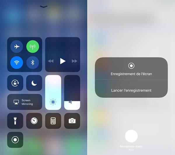 L'enregistreur interne iOS