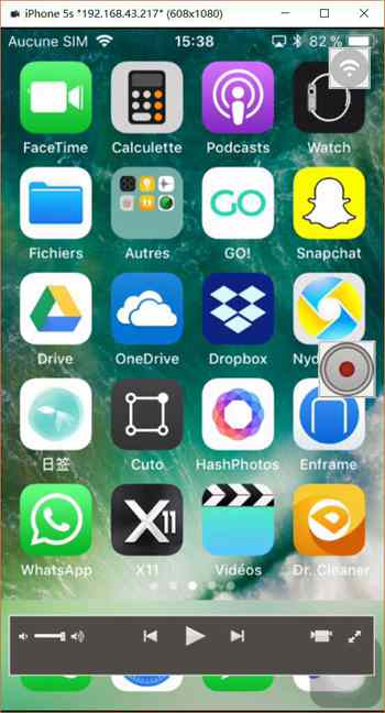 Faites afficher l'écran iOS sur le PC