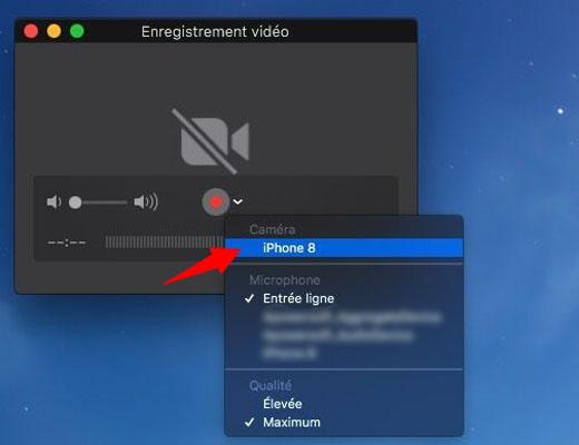 Afficher des vidéos de l'iPhone sur Mac