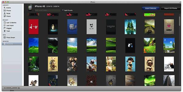 Exportez des photos vers Mac avec iPhotos