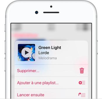 Supprimer une musique sur iPhone/iPad/iPod