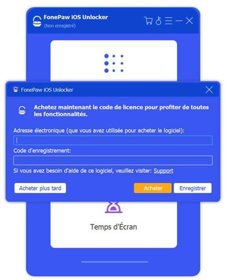 enregistrer FonePaw iOS Unlocker