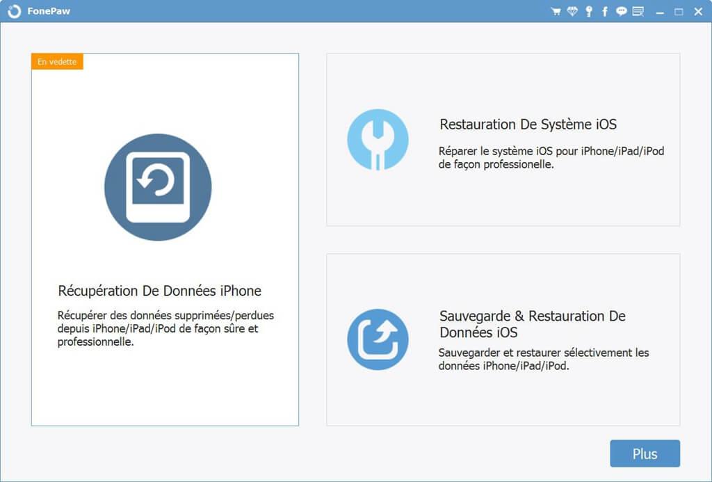 Lancez le programme FonePaw pour iOS.