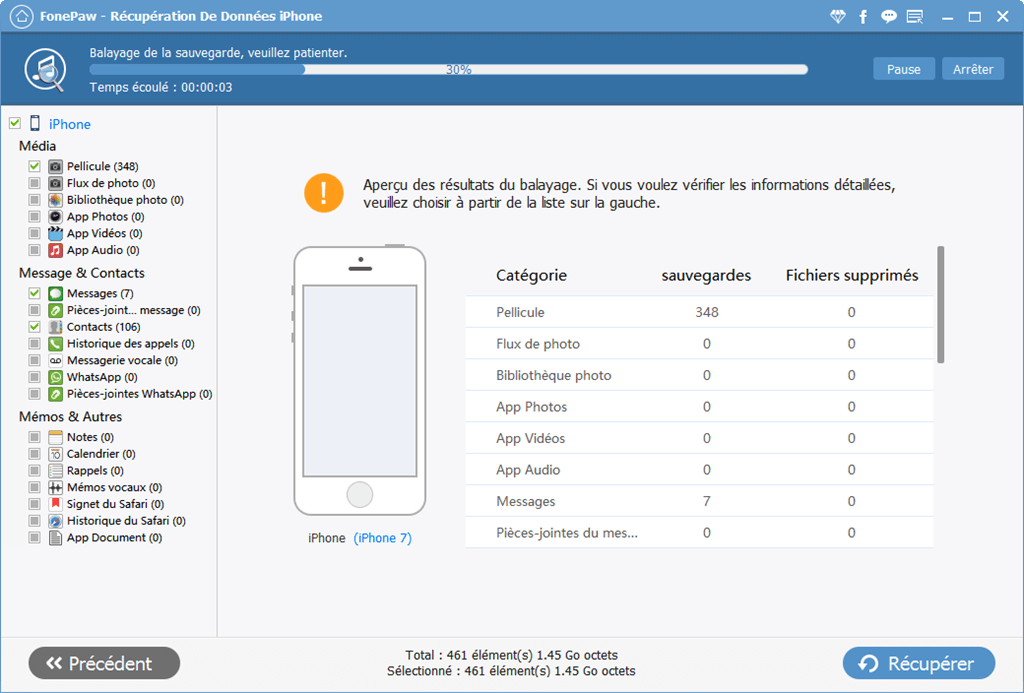 retrouver video supprimer iphone itunes