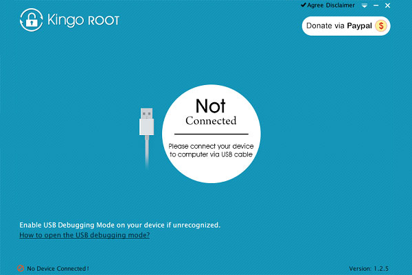Connect Android to Kingo Root