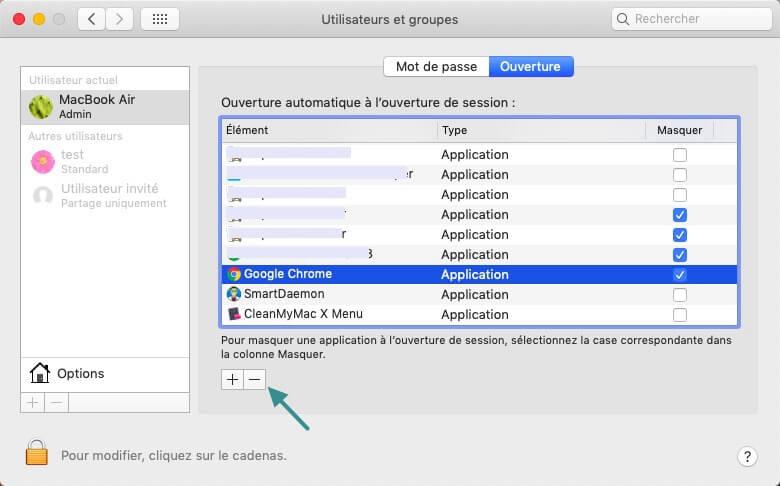 Supprimer manuellement les éléments de démarrage sur Mac