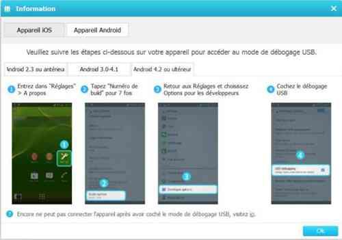activer le débogage USB pour Android 4.2